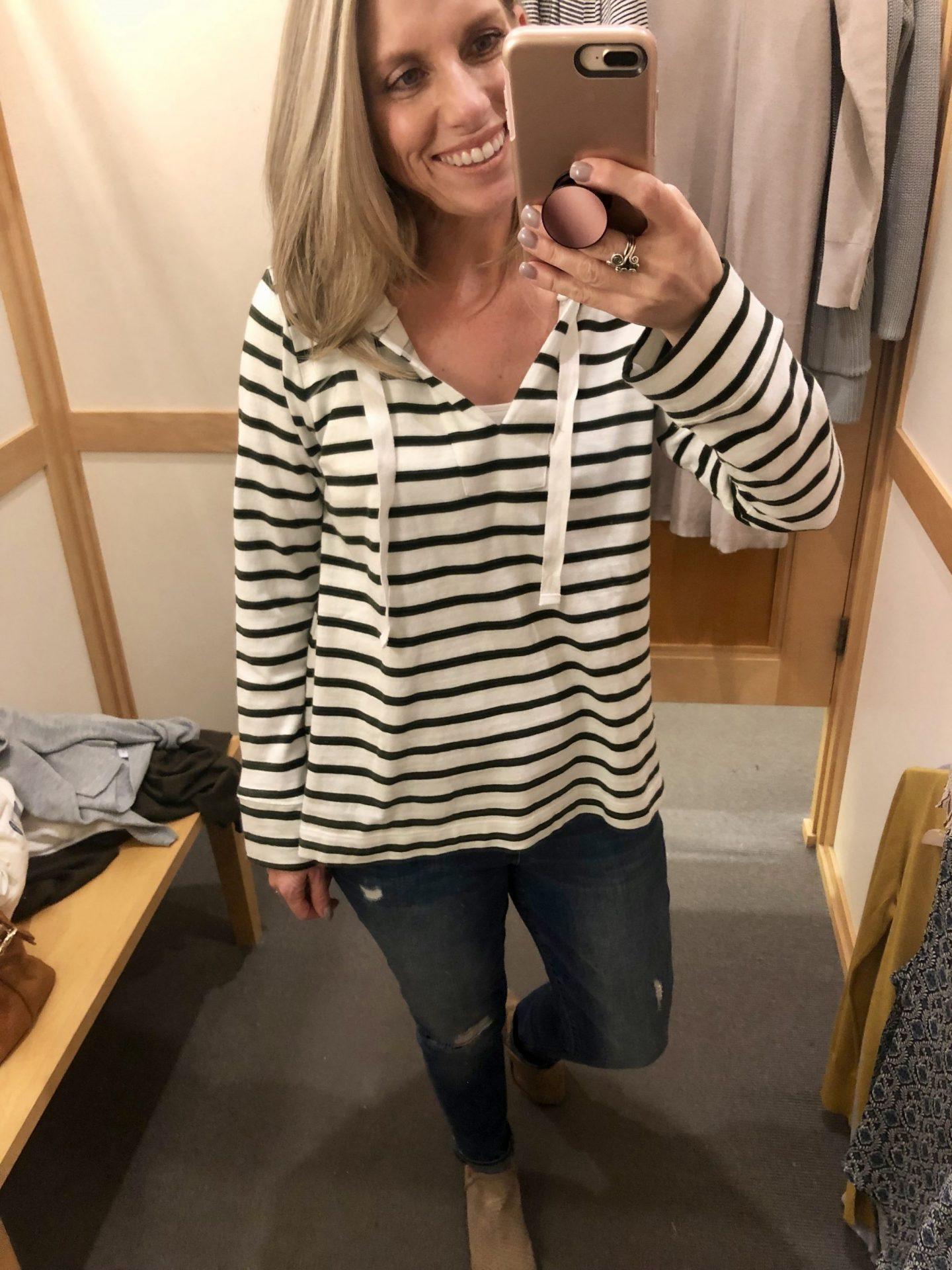 Loft striped pullover