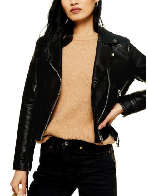 Topshop Kota Crop Faux Leather Moto Jacket, Nordstrom Anniversary Sale