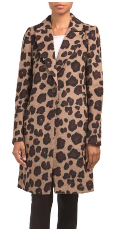 Leopard Coat, TJMaxx