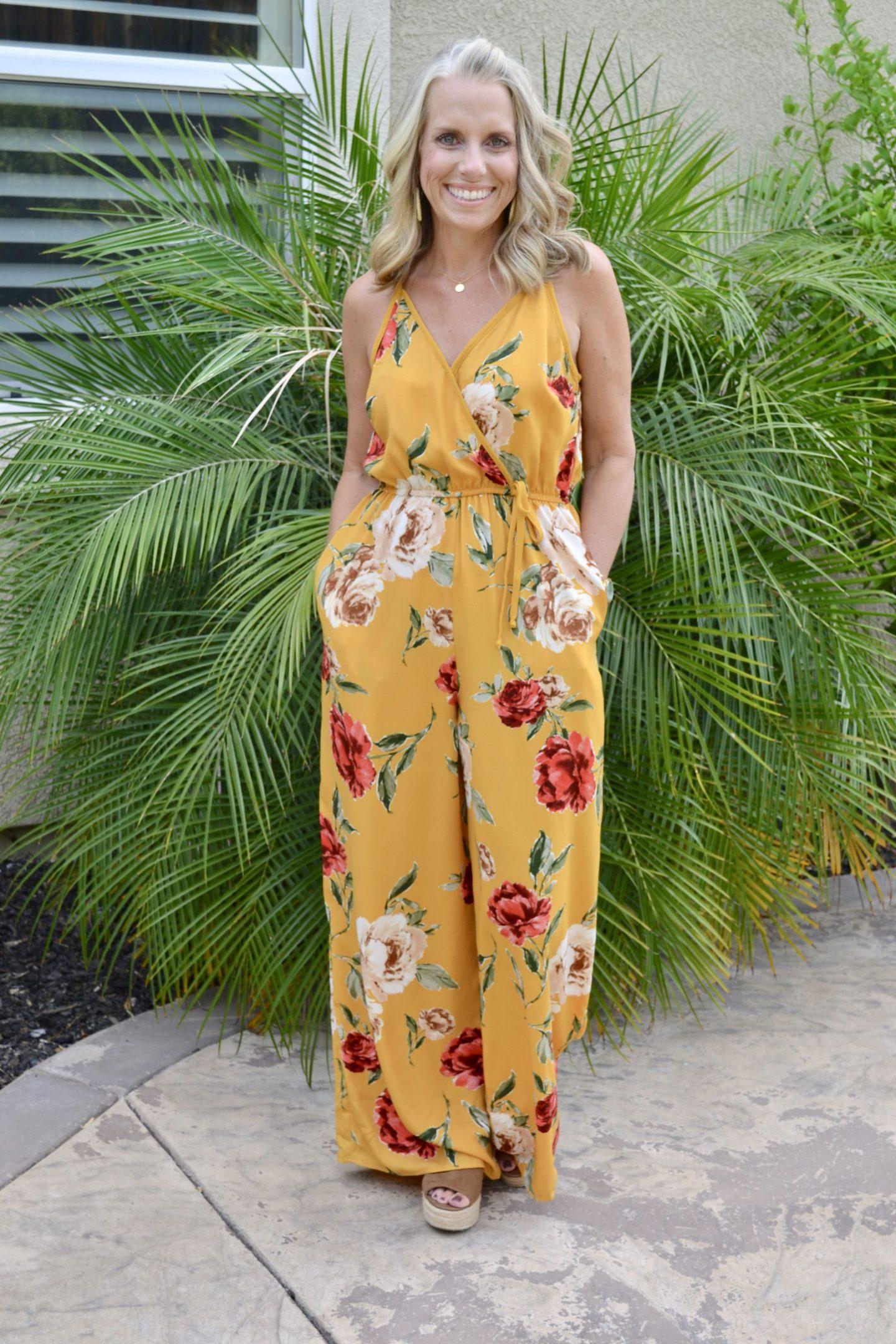 Target floral jumpsuit