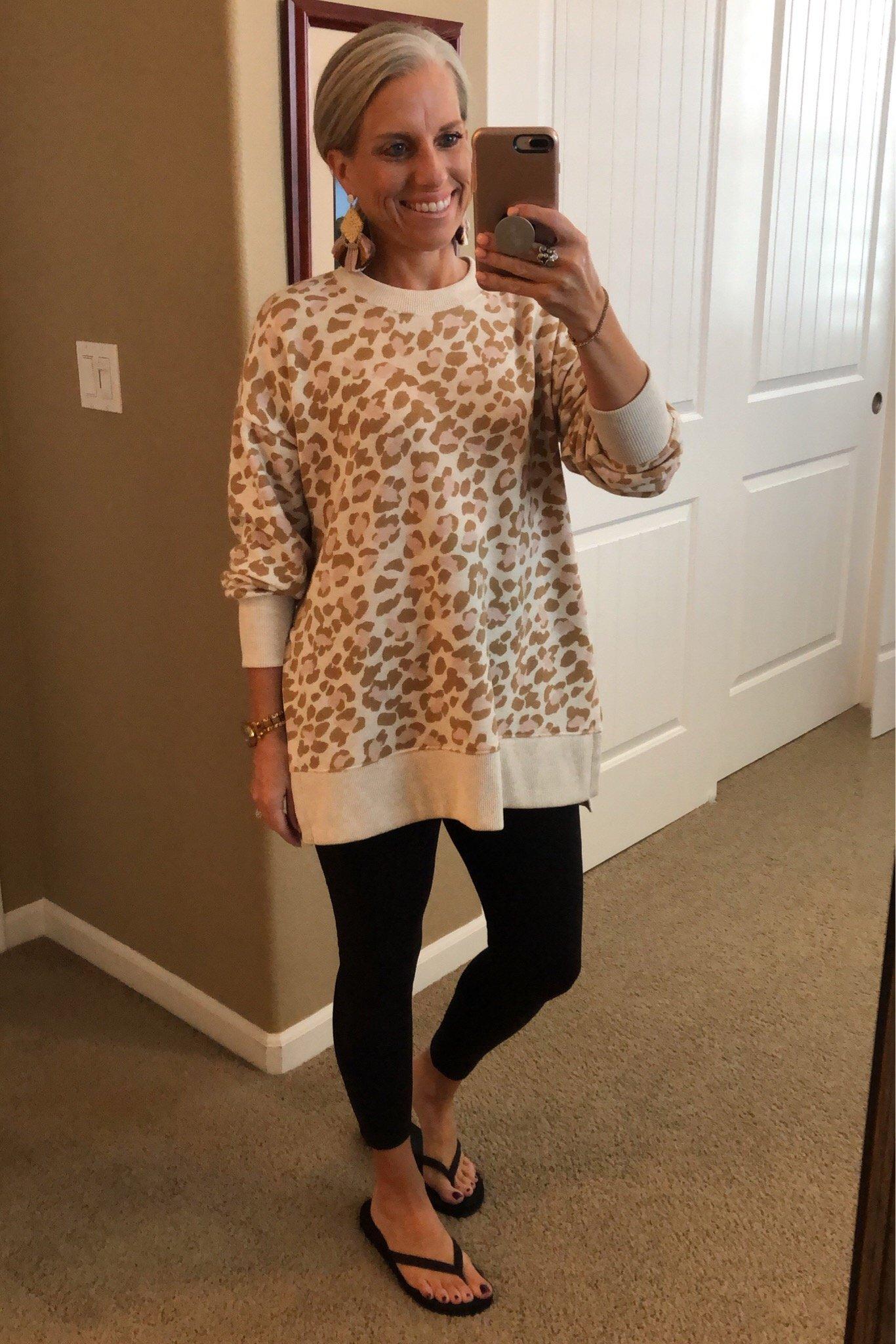 Leopard sweatshirt, Coast to Coast Friday Favorites