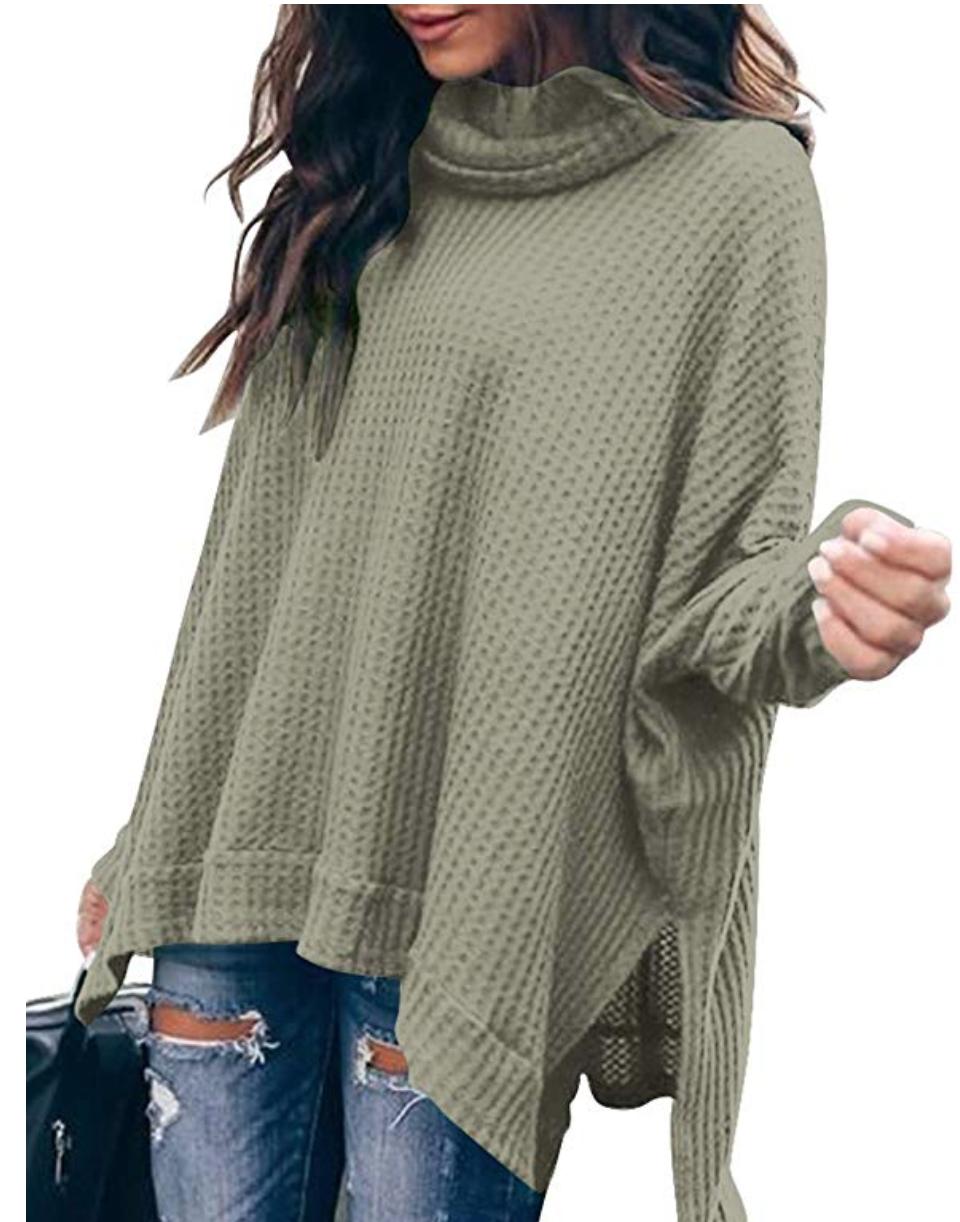 Waffle Knit Tunic, Amazon