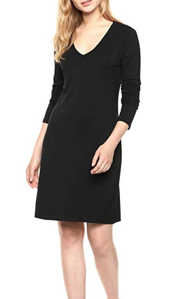 V-neck T-shirt Dress, Amazon