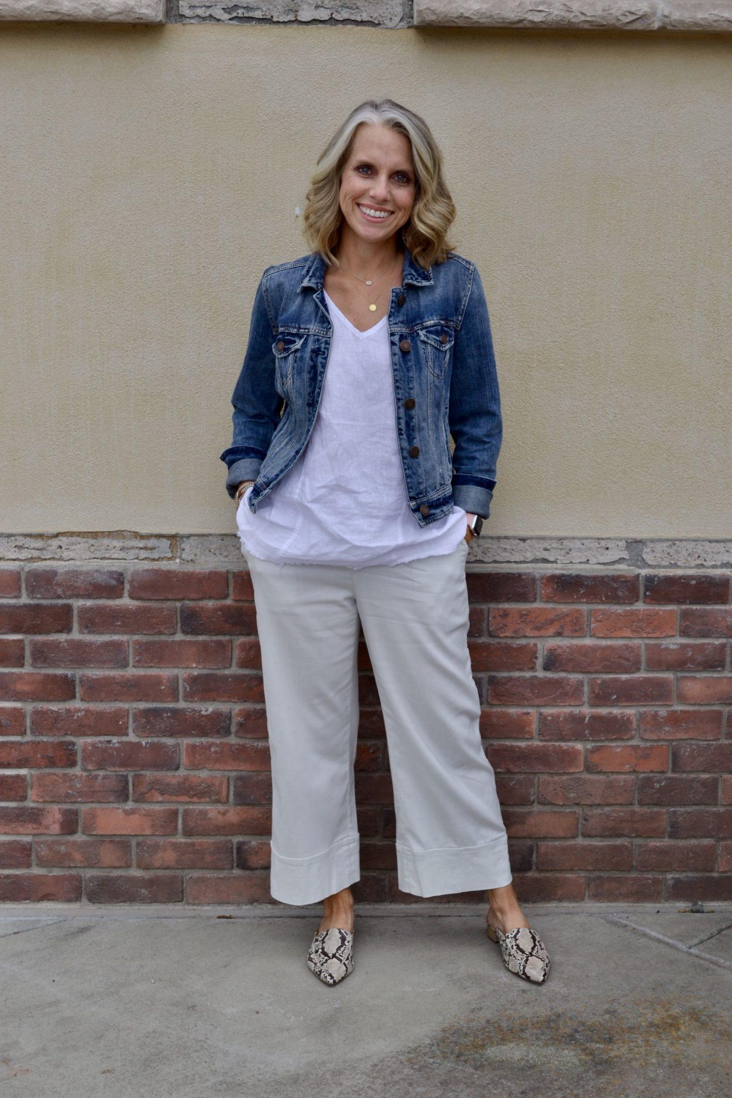 XCVI Wide leg pants & linen top