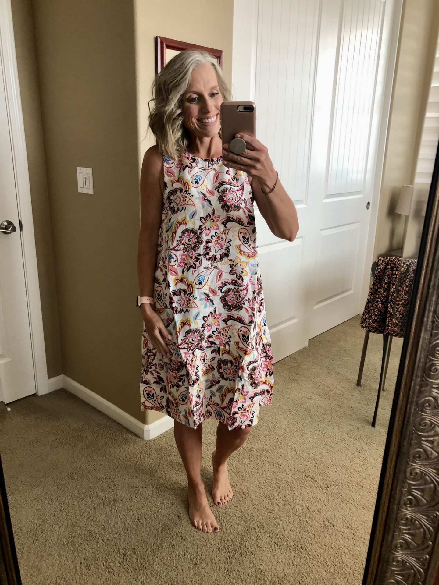 Floral dress, Coast to Coast