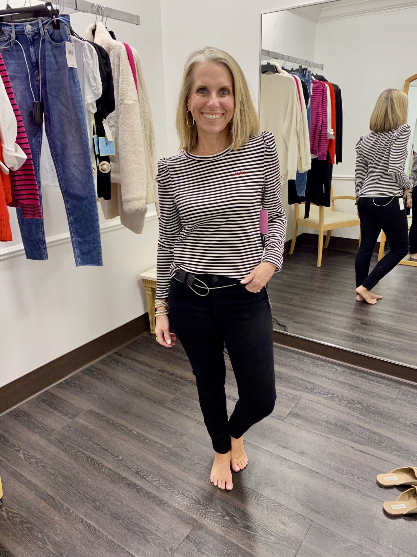 Macy's try on, striped tee