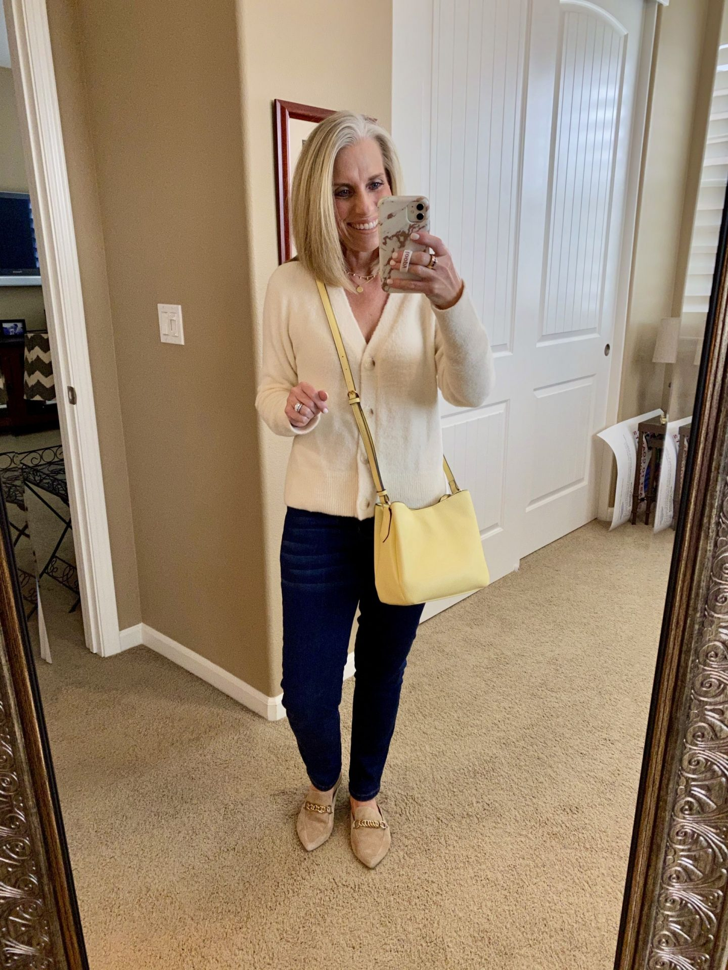 Pantone colors for spring yellow purse