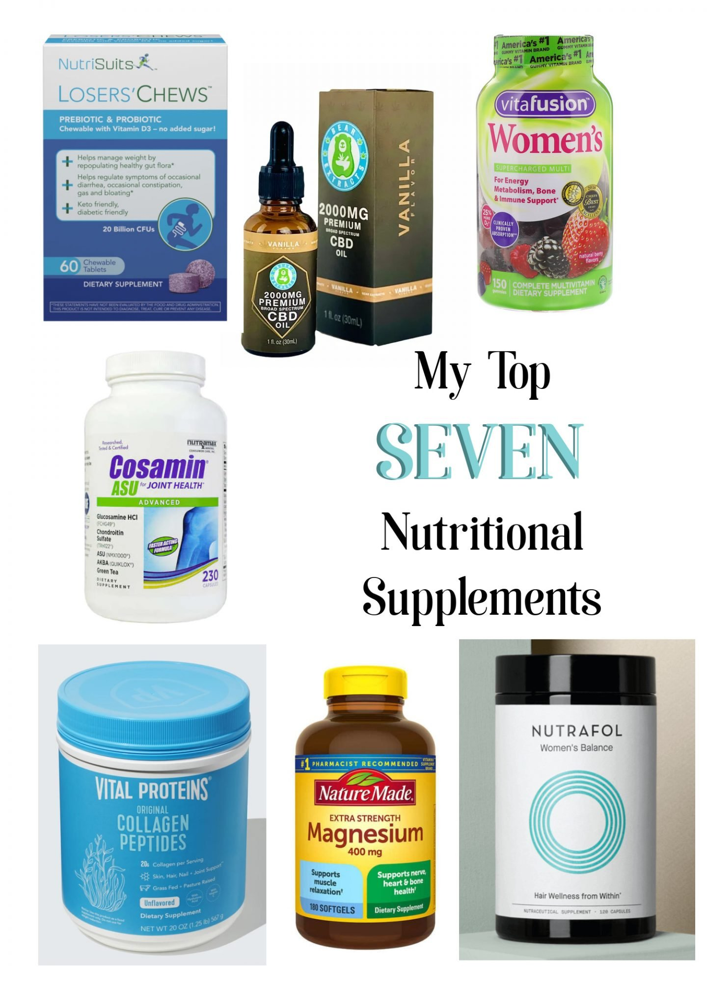 Top Seven Nutritional Supplements for Women