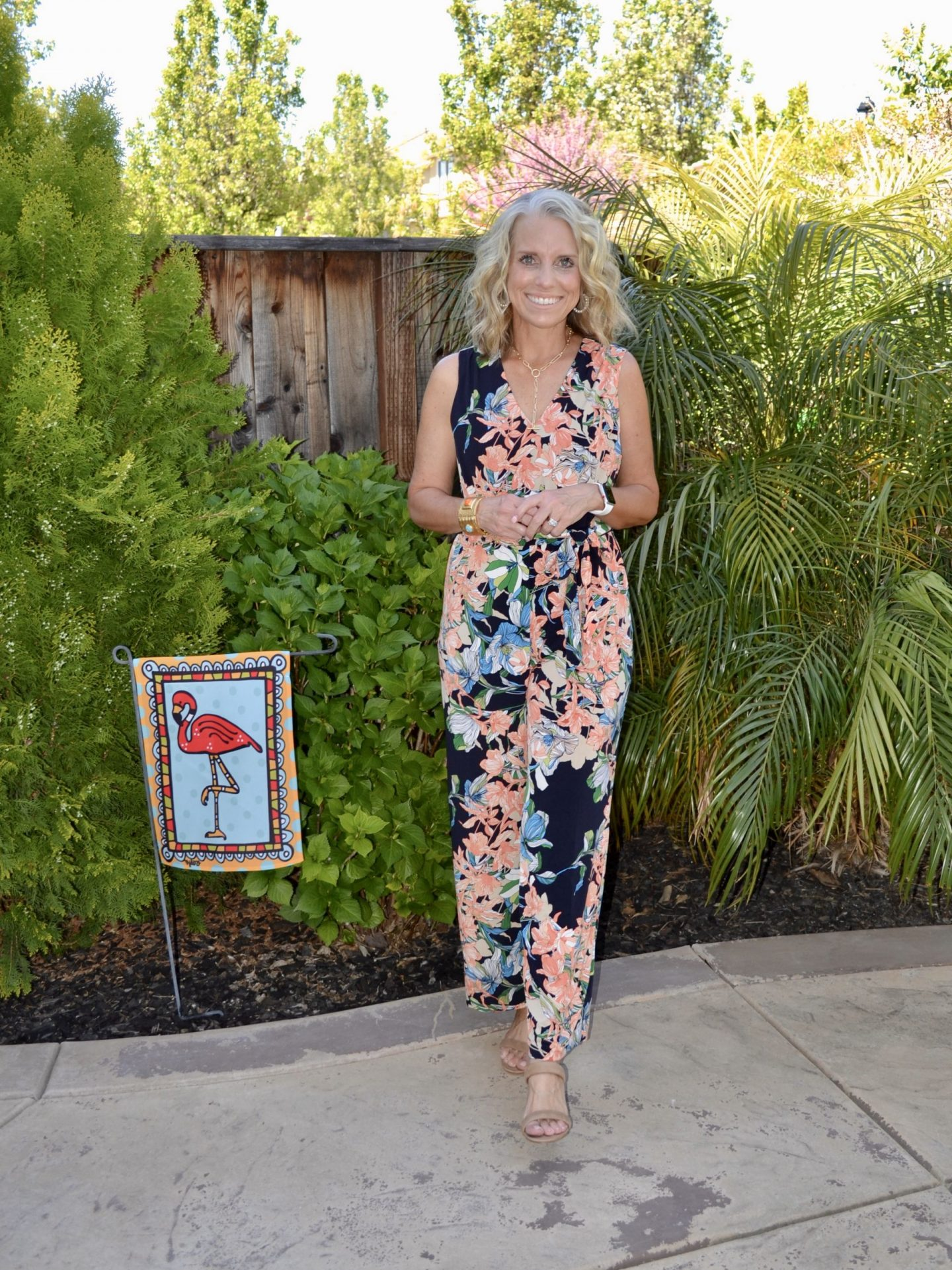 Chico's floral jumpsuit for spring