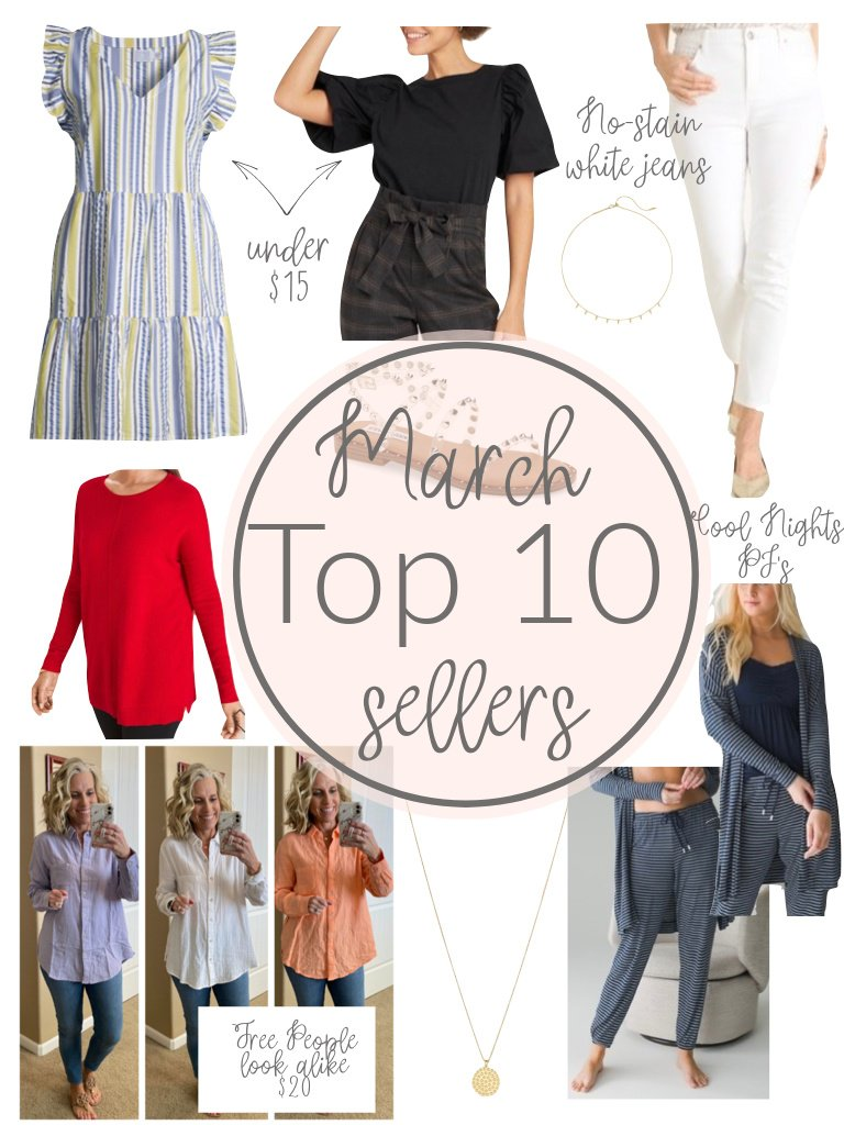 Your March Top Ten Sellers