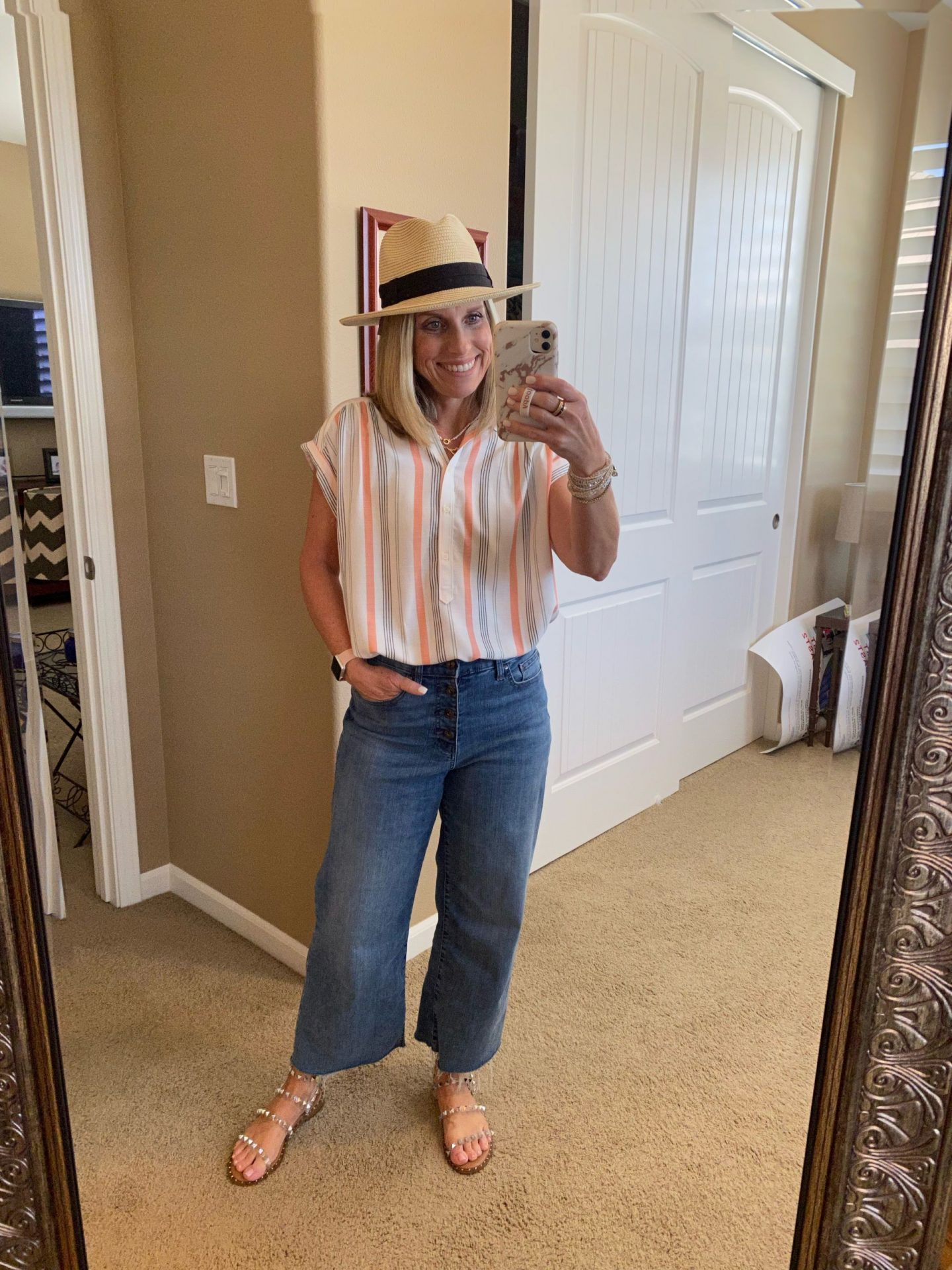 What I've been wearing LATELY Loft Striped shirt