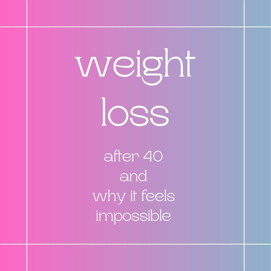 weight loss after 40 and why it feels impossible