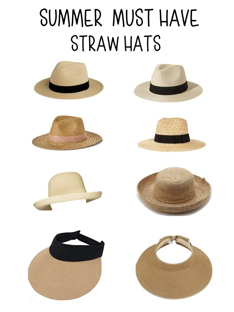 summer must haves straw hats