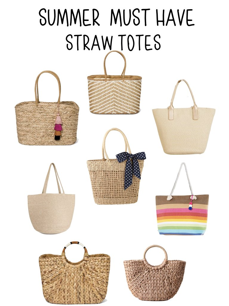 summer must have straw totes