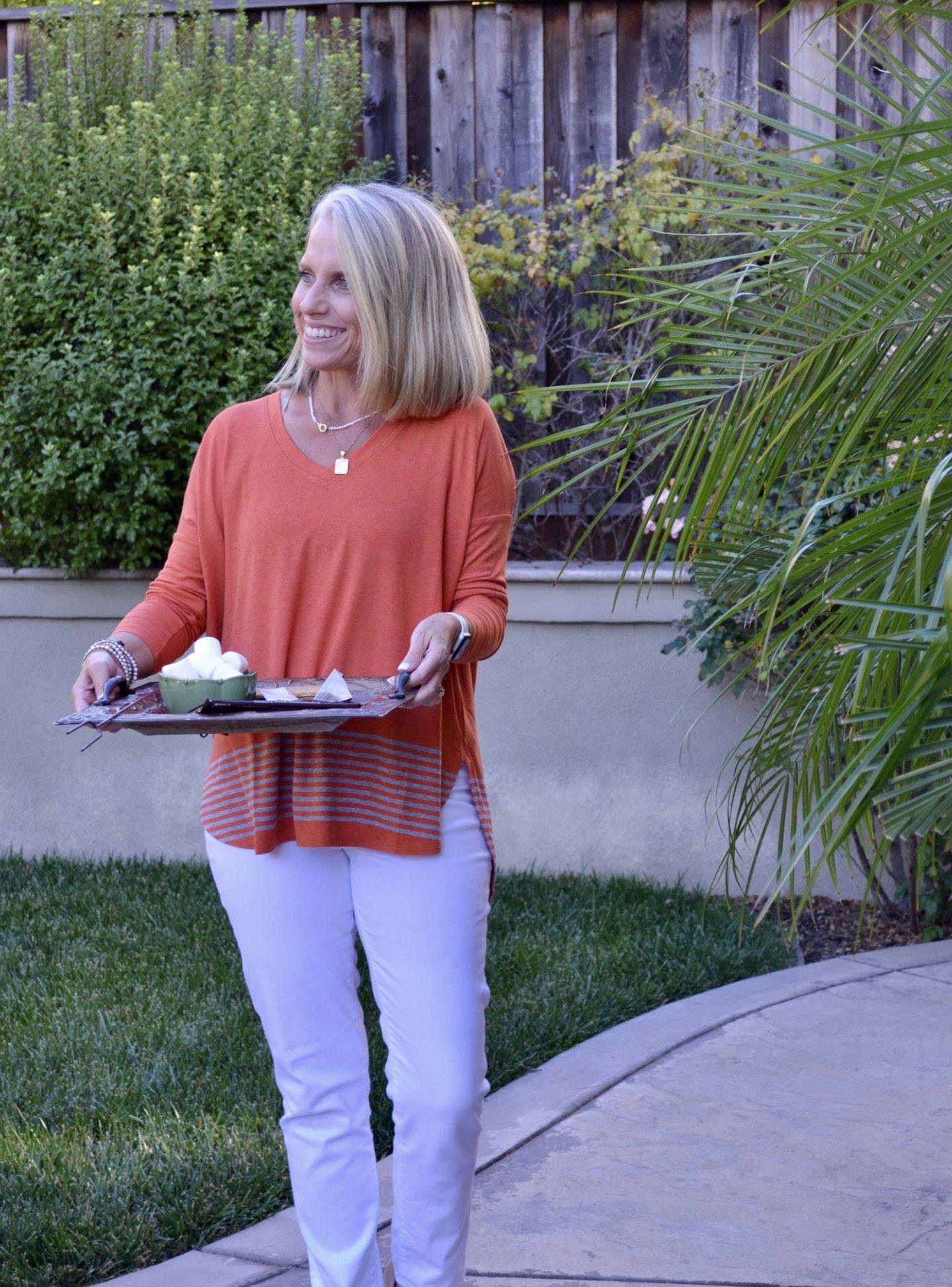 Orange Cabi sweater