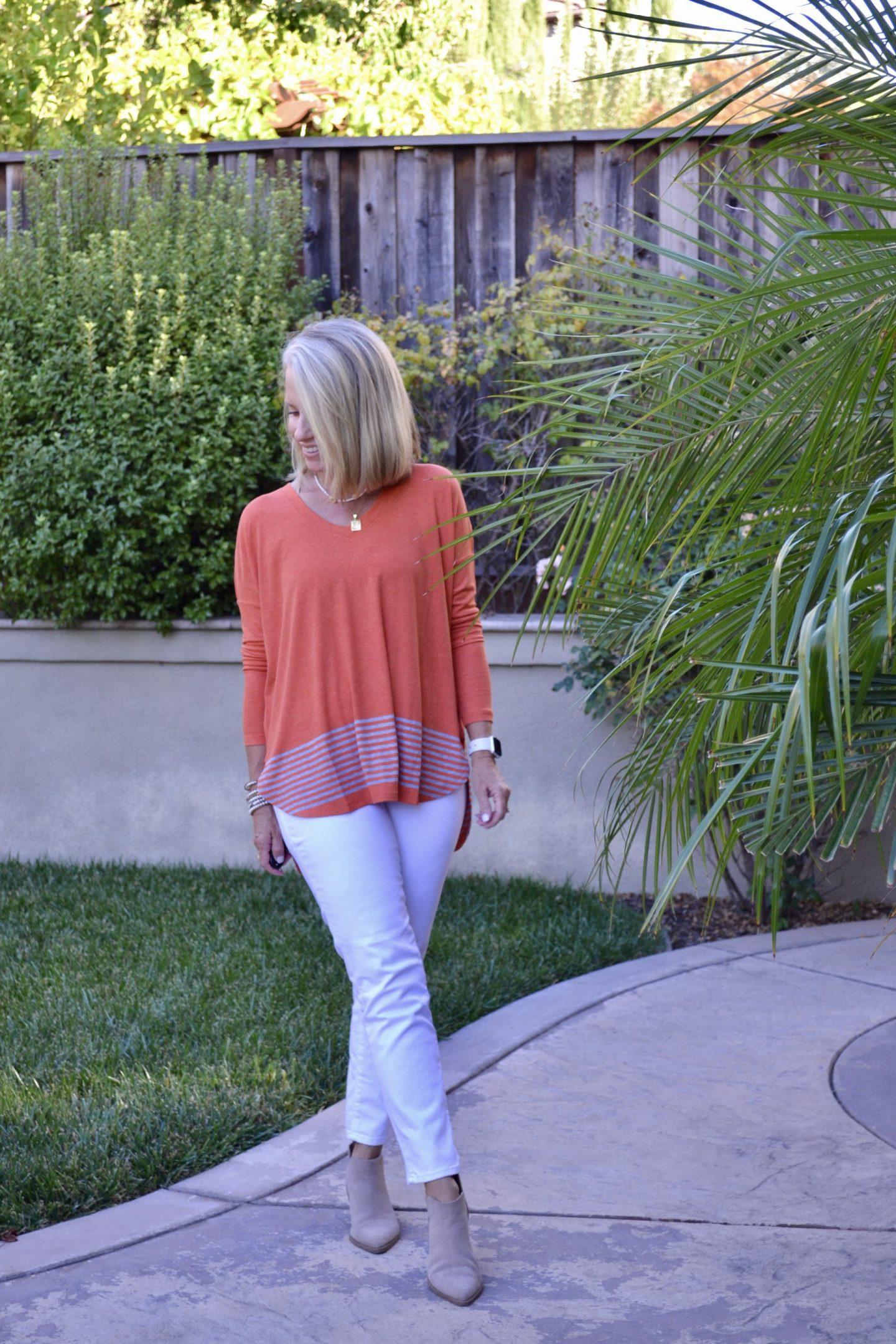 How to wear orange in fall